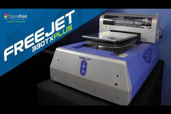 FreeJet 330tx Plus de OmniPrint International, la mejor impresora directo a prenda (DTG)