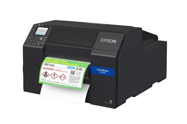 La serie de impresoras digitales CW-C6500 de Epson ofrece etiquetas personalizadas bajo demanda